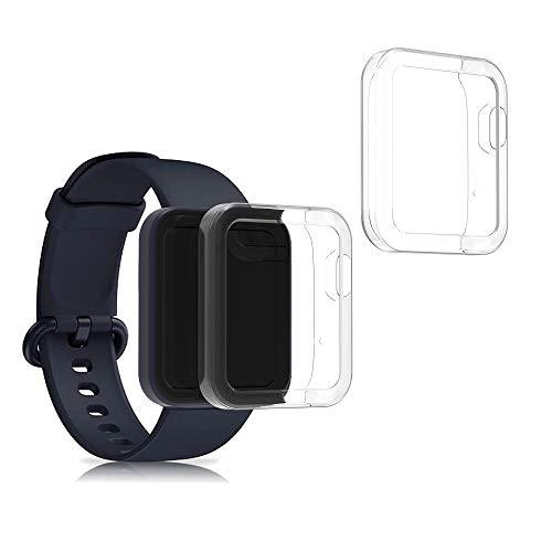 kwmobile 2 Pack de Fundas Compatible con Fitness Tracker Xiaomi Mi Watch Lite/Redmi Watch - Case en Transparente