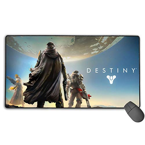 Portable Laptop Mac Mouse Pad with Rubber Base, Thick Large Anti-Slip Mouse Mat, Video Game Destiny 2 Best Gaming Keyboard Pad for Teens School