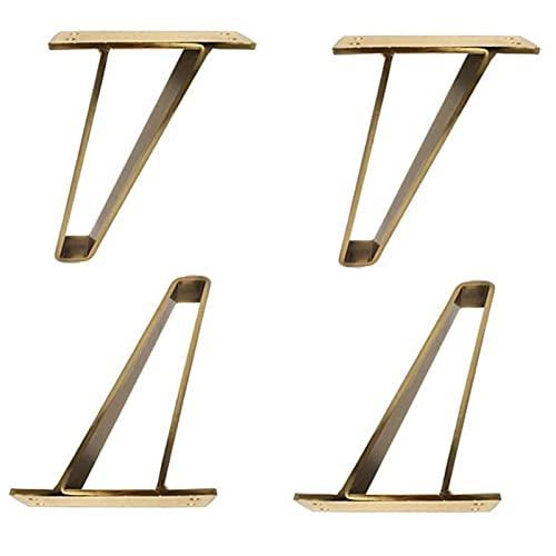 4X150 Mm Eenvoudige Meubels Voeten Trapeziumvormige Sofa Benen Kast Benen Badkamermeubel Benen Ondersteuning Benen Met Rubber, gouden Sofa tafel