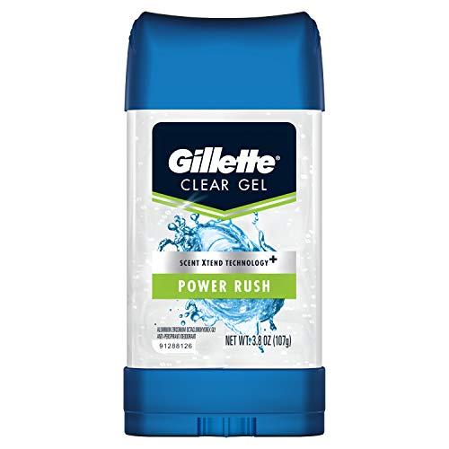 Gillette - Desodorante antitranspirante de gel transparente, Power Rush