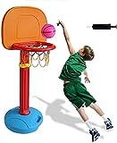 Canasta de baloncesto Niños ajustable Protable baloncesto Conjunto, canasta de baloncesto for niños interior, Hogar sistema de elevación de tiro con red y la bola deporte al aire libre Juego Set de Ju