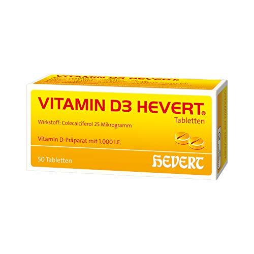 Vitamin D3 Hevert 1000 I.E. Tabletten, 50 St. Tabletten