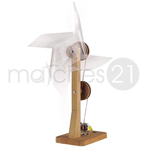 matches21 Windgenerator Bausatz f. Kinder Werkset Bastelset ab 11 Jahren