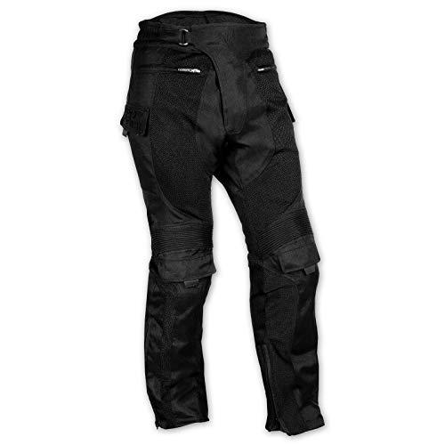 A-Pro - Pantaloni rinforzati da motociclista, CE, impermeabili, in tessuto Mesh, da uomo, 36
