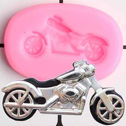 LNOFG 3D Motorcycle Silicone Mold Diy Cake Decorating Tool Cake Candy Baking Mold Chocolate Syrup Mold