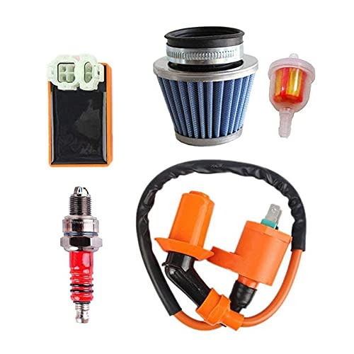 FANGFANG Want Want Lin Coil Racing FILTRIL DE Aire CDI CDI Ajuste para 50cc 125cc 150cc 139qmb 152qmi 157mj con Motor de Filtro de Combustible ATV ATV MOPEDS Scooter Go (Color : A)