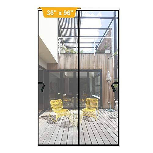 Magnetic Screen Door 36 x 96 inch, DIXLAMN Magnet Screen Door Mosquito Door Net with Heavy Duty Fits Door Size up to 34'x94' Max for Entry Door /Exterior Door /Interior Door /Kitchen Door/Patio Door