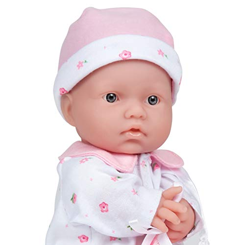 Caucasian 11-inch Small Soft Body Baby Doll | JC Toys - La Baby | Washable |Removable Pink Outfit w/ Hat