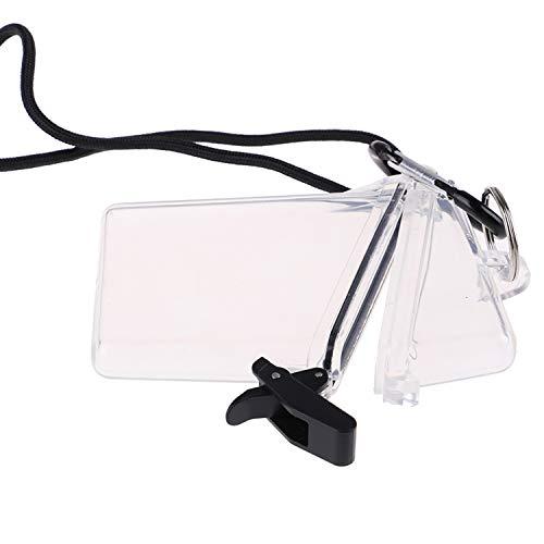 OBANGONG 3 Pcs Sport Waterproof ID Card Badge Holder Case Waterproof Sports Case Vertical Badge Holders with Lanyard and Keychain Photo #6