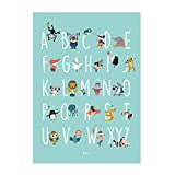 Julica Design ABC Poster für Kinder | Tiere | Alphabet