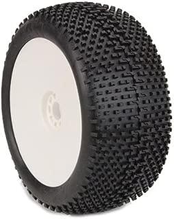 AKA Products 14111SRW Racing Truggy Evo I-Beam Soft Pre-Mounted White Tire, Scale 1:8