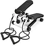 Outtive Mini Stepper,Fitness Stair Stepper - Portable Twist Stair Stepper Adjustable Resistance,Fitness Exercise Machine with Resistance Bands Durable & LCD Display and Comfortable Foot Pedals