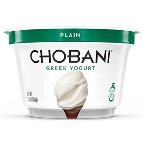 Chobani Greek Yogurt Low Fat Plain, 5.3 Ounce -- 12 per case.