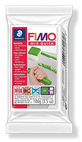 Staedtler 8026 Fimo Modelliermasse (Mix Quick, Knethilfe)