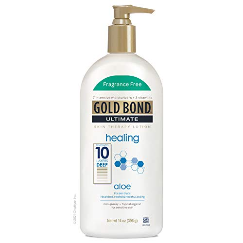 Gold Bond Ultimate Healing Skin Therapy Lotion with Aloe, Fragrance Free 14 Ounce