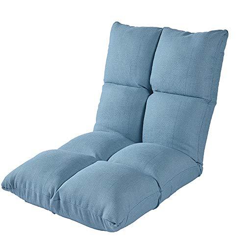 Schlafzimmer Faule Sofa Tatami Kissen Balkon Kissen Lazy Couch Computer Bett Taille Stühle Hohe Zurück Home Kleine Wohnung Wohnzimmer (Color : Blue, Size : 111 * 53 * 16CM)
