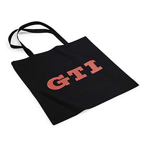 Volkswagen 000087317BN Tragetasche Einkaufsbeutel GTI Design Baumwolle Tasche, schwarz/rot