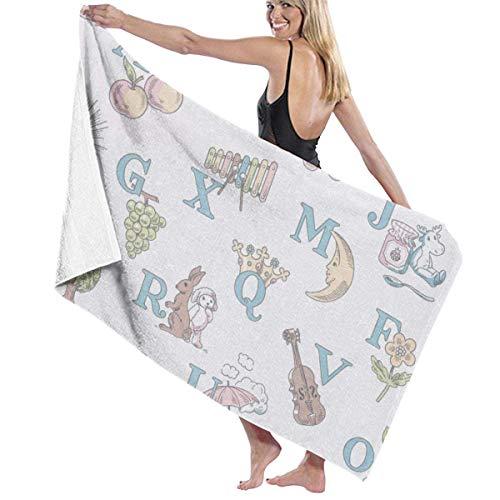 Toallas Shower Towels Beach Towels Bathroom Towels Toalla De Baño Toallas de baño de piscina con letras inglesas lindas vintage Toalla 130 x 80 CM