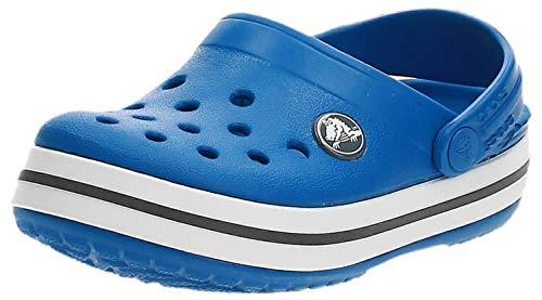 Crocs Crocband Clog Kids Unisex Niños Zuecos, Azul (Bright Cobalt/Charcoal), 25/26 EU