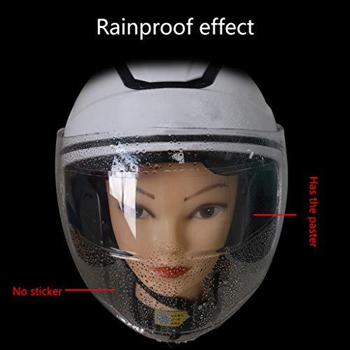 Xzbnwuviei Anti-Beschlag-Folie für Motorradhelm, universeller Helm, klar, Anti-Beschlag-Flick-Folie, Motorradhelm-Objektiv, beschlagfreie Folien für Helme