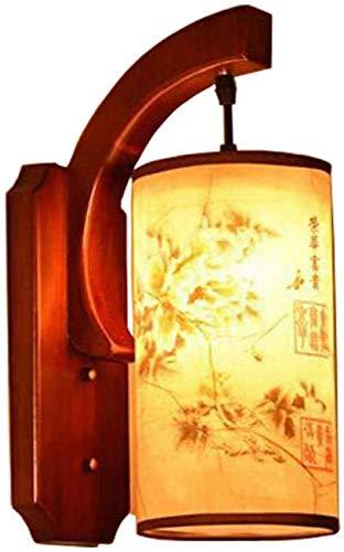 Retro chinos antiguos de madera lámpara de pared del pasillo escaleras lámpara del dormitorio sala de estar corredor estadounidense Patch Cafe,A