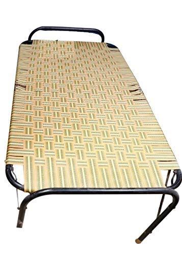 "Aaram Folding Bed Smart Niwar Strong (Medium 39""X72"" in)   Weight 7.5kg   Multicolor"
