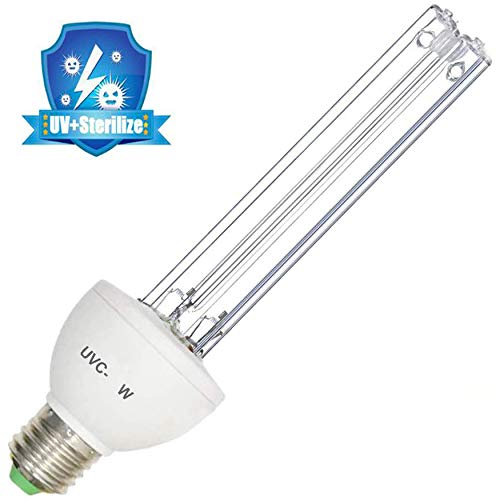 Luchtreiniger Kwarts UV Kiemdodende Compacte CFL-lamp Reinigen en ontsmetten door bacteriële virusmijten te elimineren en te doden,25W