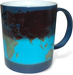Thumbs Up UK Col Ceramic Day and Night Heat Sensitive Color Changing Mug, Blue/White