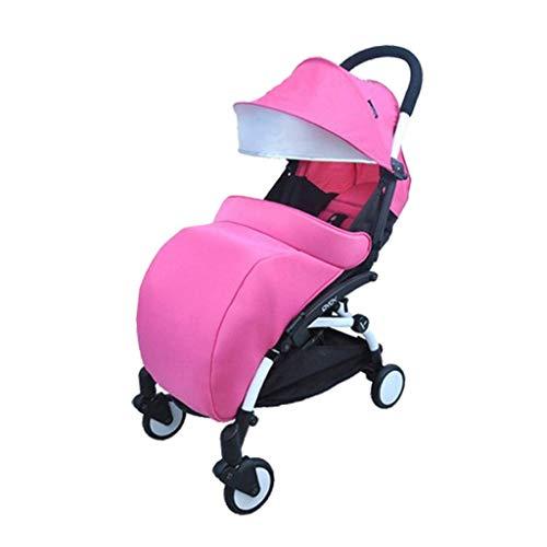 Qinmo Cochecitos de bebé, cosytoes Saco universal cochecito de bebé Liner Buggy acolchado saco de silla (Color: Negro), color: rosa (Color : Pink)
