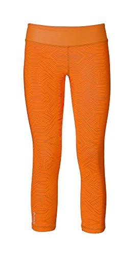 Erima Damen Green Concept 3/4 Tights 3/4tight, Orange Pop/Solaire, 36