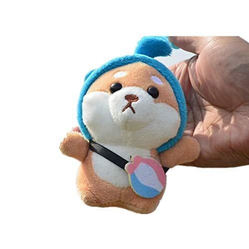 yqs Llavero Lindo Cachorro Perro Llavero de Felpa Llave Cadena Miniatura muñeca Bolsa Colgante Llavero Conejo Fur Estado de ánimo