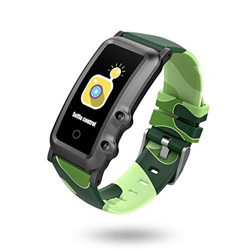 BIGCHINAMALL Reloj Inteligente Niño, Niña Pulsera Actividad Reloj Inteligente de para Deportivo Monitores Smartwatch Contador Pasos Pulsometro Deporte Relog Digitales Watch (Painted Green)