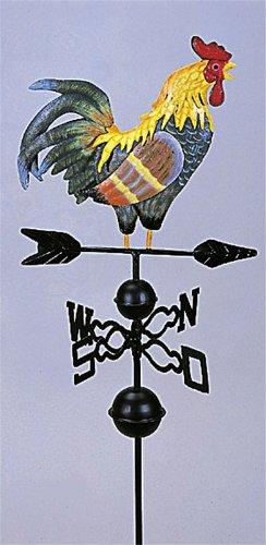 Hahn mit Windrad