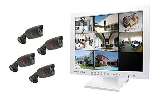 Thomson 512319 Videosorveglianza 17 Pollici IP 8 canali DVR, Bianco