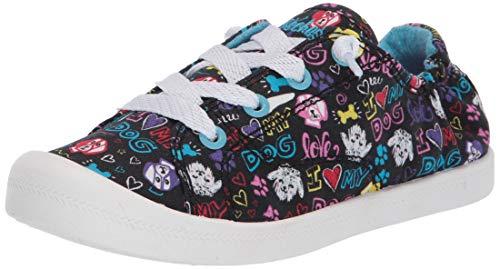 Skechers Kids Girls' Beach Bingo-I Chews You Sneaker, Black/Turquoise, 13.5 Medium US Little Kid