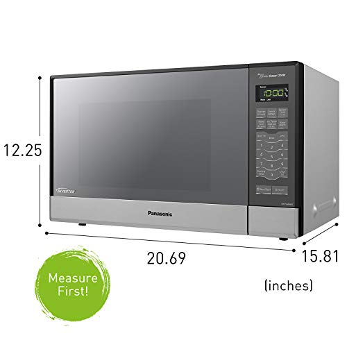 Panasonic Microwave Oven NN-SN686S Stainless Steel Countertop/Built-In with Inverter Technology and Genius Sensor, 1.2 Cu. Ft, 1200W