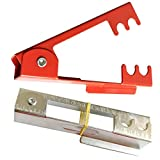 TIHOOD 2pcs Rose Removing Burrs Pliers,14cm New DIY Cut Thorn and Leaf Stripper Stripping Tool(Red & Silver)
