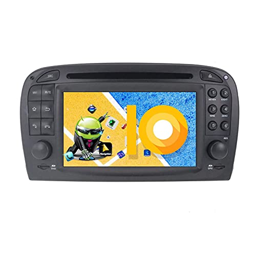 JIBO Android 9.0 Carro Estéreo GPS Navegación Multimedia DVD Jugador por Mercedes Benz SL R230 SL500 2001-2007 Carro Cabeza Unidad Tocar Pantalla SWC BT Video Receptor Nav Sat