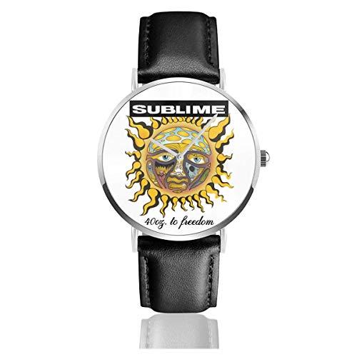 Sublime 40oz to Freedom Casual Uhren Armband UV-Lederarmband Ultradünne Uhr