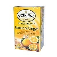 Twinings of London - ハーブティーのレモンおよびショウガ - 1ティーバッグ