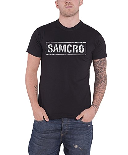 Sons of Anarchy - T-shirt Homme Samcro - Noir (Black) - Small