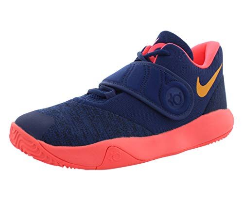 Nike Boy's KD Trey 5 VI Basketball Shoe Blue Void/Orange Peel/Flash Crimson Size 7 M US