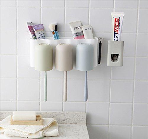 Ndier - Soporte para cepillos de Dientes con dispensador automático