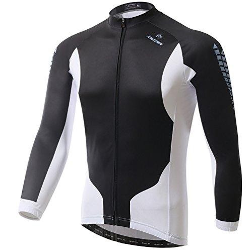 Baymate Unisexe Thermique Maillot de Cyclisme Manches Longues Confortable Cycling Jersey L
