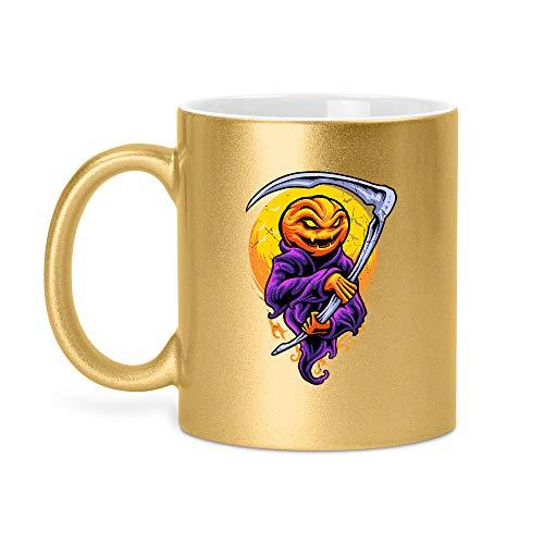 Halloween Grimm | Glitzertasse Tasse Becher Glitzer Geschenk | 330 ml