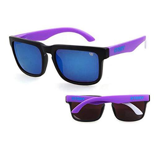 CHENG/ CHENG Sonnebrille Retro Sonnenbrille Männer Quadratischen Rahmen Klassische Heiße Strahlen Fahren Männlichen Sonnenbrille Shades Oculos