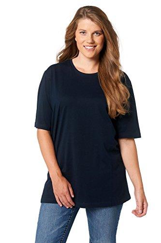Ulla Popken Große Größen Damen T-Shirt, Rundhals, Blau (Blau 71), 54/56 (Herstellergröße:54)