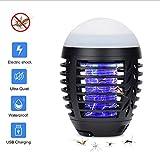 Antimosquitos, Mosquito Killer Lámpara USB, No Tóxico Potente Insecticida, Lámpara de Mosquito, Trampa de Insectos Voladores Que Emite Luz Lámpara Electrónica UV para Exteriores e Interiores