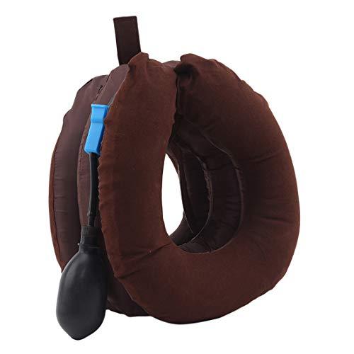 EMFGJ - Dispositivo de tracción para el cuello, ajustable, para el cuello y el cuello, masajeador