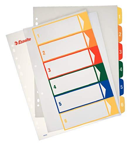 ESSELTE 100212 - Indice de proyectos imprimibles PP DIN A4 1-6 🔥